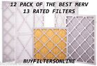12 PACK QUALITY MERV 13 FURNACE AC PLEATED AIR FILTERS
