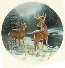Ceramic Decals Buck/Deer Snowy Winter Stream Scene