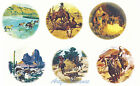 Ceramic Decals Cowboy Southwest/Western Scenes Cow/Wolf image