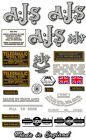 1953-55: Model 20,20BC - AJS DECALS- AJS Twin