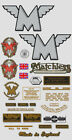 1955-56: Matchless Decals - RESTORERS FULL DECAL SET