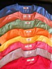 Hanes Round Neck Cap Sleeve Fitted TShirt Bright Colors
