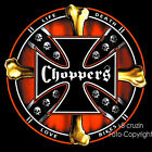 * Choppers Cross Totenkopf  Rocker USA Hardcore Biker Motiv Skull T-Shirt  *4095