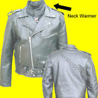 MENS COWHIDE LEATHER MOTORCYCLE JACKET ZIP OUT LINER