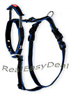 BAMBOO QUICK CONTROL HARNESS & BUILT-IN LEASH BLUE M L