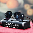 NEW MEN AVIATOR SUNGLASSES VINTAGE COP BLACK BROWN LENS