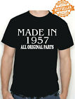Made In 1957 BIRTHDAY T-shirt / Tee / All Original Parts /...