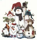 Ceramic Decals Christmas Holiday Snowman Snowmen Group