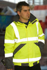 HI VIS VIZ EXECUTIVE SUPERIOR BOMBER JACKET EN471 YELLOW  sizes S upto 4XL