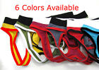 Colorful hot mens Man sexy low rise mesh hole briefs G-string jock strap 6Colors
