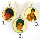 Michael Jackson MJ gold plated Gloves Necklace