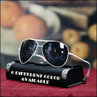 NEW MENS AVIATOR SUNGLASSES PILOT COPS BIKER VINTAGE TREND BLACK SHADES 6 COLORS