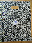 BLACK ANIMAL LEOPARD PRINT QUALITY FASHION CARRIER BAGS 45+PACK 25cmx25cm UKSELL