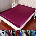 "40MM Heavy Weight Silk Fitted Sheet 14"" Pocket Twin Full Queen King Cal king"