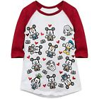 NEW Raglan 3/4 Sleeve X-Ray Mickey Mouse & Friends Girls Tee Sz M 7/8  L 10/12