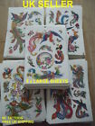 5 x SHEETS GIRLS BOYS TEMPORARY TATTOOS COLOURFUL BIRDS PEACOCKS 60+ TATTOOS UK