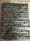 LARGE BLACK GOLD GRAFFITI PRINT FASHION CARRIER BAGS 50+PACK 32cm x 25cm UKSELL