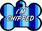 I'm Chipped ID Pet | Dog Metal Name Tag For Collar Bone Shaped