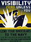 Lend Binoculars to the Navy Decor Poster. Graphic Art. Interior Design. 2123