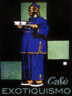 Cafe Exotiquismo Oriental Poster.Blue fashion.Asian Wall Interior Design . 2360