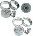 SET OF 11 CUTTERS IN A TIN - ROUND Fluted or Plain - Pastry, Biscuit, Cookie...
