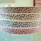 5m length - NARROW LEOPARD-  GROSGRAIN FABRIC RIBBON 4