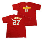 Reebok NFL Mens Kansas City Chiefs L. Johnson # 27 Short Sleeve Tee Shirt | Red $9.99 USD on eBay