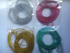 6 YARDS THIN METALLIC CORD STRING RIBBON CHRISTMAS CARD MAKING CHOICE OF COLOUR