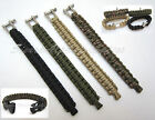 HIGHLANDER PRO FORCE PARACORD SURVIVAL BRACELET,CAMO,DESERT TAN,GREEN,BLACK-SAS