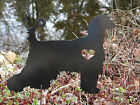 Afghan Hound GARDEN STAKE Pet Memorial Metal Lawn Ornament K9 Dog Canine