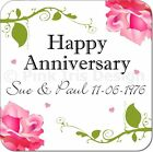 Personalised Shabby Chic Anniversary Gift Coaster Silver | Gold | Diamond