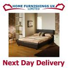 STUNNING CAROLINE HAND MADE LEATHER BED 3FT6 MEMORY FOAM ORTHO DAMASK MATTRESS