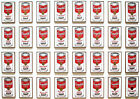 Poster Print - Andy Warhol 32 Soup Cans A3 / A4