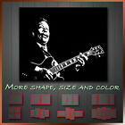 ' B.B. King Blue Guitar Black & White ' Modern Music Canvas Wall Art Deco