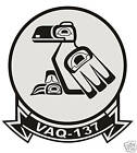 STICKER USN VAQ 137 ELECTRONIC ATTACK WING