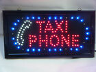 LED SHOP WINDOW HANGING NEON DISPLAY FLASHING MINI CAB TAXI/PHONE OPEN SIGN UK