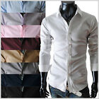 (STL) THELEES Mens casual slim fit basic dress shirts