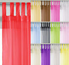 Voile Tab Top Curtain Panel All Sizes Colours FREE P&P