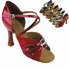 "Women's Ballroom Salsa Tango Party Jive  Dance Shoes 2/2.5/3"" Very Fine S92307"