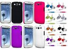 HARD BACK CASE COVER POUCH SKiN + HANDS FREE HEADSET FOR SAMSUNG GALAXY S3 i9300