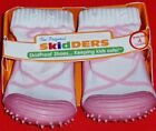 NEW Girl's Infant's Toddlers SKIDDERS White Pink Casual Comfort Socks Shoes