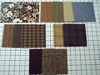 "FLANNEL 100% quality cotton fabric Timeless Treasures earth tones 1/2 yd x 44""w"
