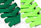 FAT WIDE FLAT GREEN SHOE LACES SHOELACES - 11mm wide - 3 LENGTHS - 2 SHADES