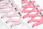 FLAT PINK SHOE LACES LONG SHOELACES - 8mm wide - 11 LENGTHS - 2 SHADES