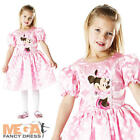 Pink Minnie Mouse Fancy Dress Girls Disney Polka Dot Costume Outfit Age 3-8 Year
