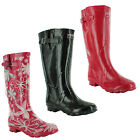 New Ladies Wellington Festival Wetlands Rain Wellies Welly Boots UK 3 4 5 6 7 8