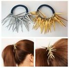 NEW Gold Silver Spike Hair Band Ponytail Holder Spikes Hair Accessorries Spiked