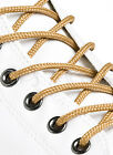 ROUND WHEAT GOLD SHOE LACES SHOELACES - 3mm wide - 11 LENGTHS - HIGH QUALITY