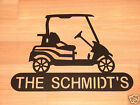 Golf Cart WELCOME PLAQUE Sign Home Decor Wall Lg Golfer Vacation Home Cabin
