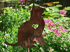 Pet Cat Memorial GARDEN STAKE Yard Lawn Ornament Feline Kitty Metal Art